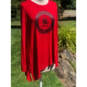 NWT G.H Bass and Co. long sleeve red logo shirt L